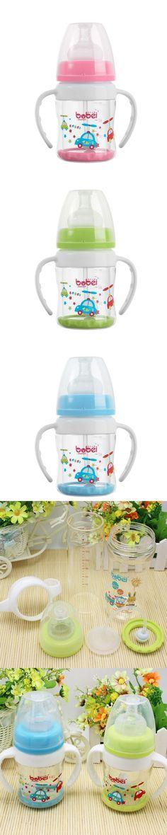 100ml baby feeding bottle Pyrex straws drinking nursing bottle glass automatic feeding biberones with handle mamadeira vidro $12.99