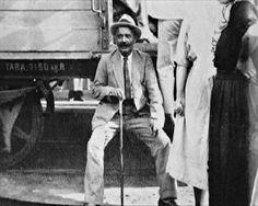 Georges Gurdjieff sitting near the train.   LA COMPRENSIONE DELL'ESSERE by Georges I. Gurdjieff   http://www.macrolibrarsi.it/libri/__la-comprensione-dell-essere.php?pn=166