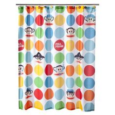 Paul Frank shower curtain at Target.  Maybe for the kids bathroom :)