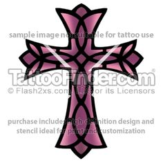 Stained Glass Cross tattoo design by Demon Dean
