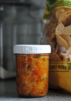 grilled pineapple peach salsa ~ fat girl trapped in a skinny body