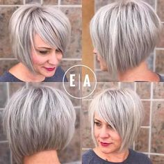 Image result for short silver hairstyles 2017
