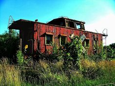 Photograph - Old Caboose by Julie Dant , Abandoned Ships, Abandoned Buildings, Abandoned Places, Abandoned Train Station, Rust In Peace, Train Pictures, Old Barns, Heart For Kids, Train Tracks