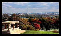 My favorite view in DC: from the Robert E. Lee Arlington House at Arlington National Cemetery
