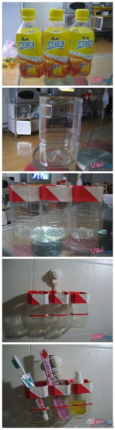 DIY Plastic Bottle Bath Storage Box