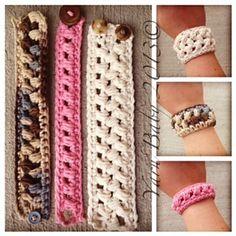 Ravelry: The Brecken Bracelet: FREE crochet pattern by Shannon @ My Yarn Baby