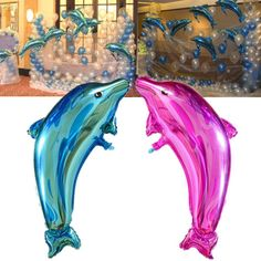 Cute Pink Blue Animal Dolphin Foil Balloon Party Birthday Wedding Decorations | eBay
