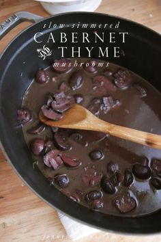 Slow-Simmered Cabernet & Thyme Mushrooms... AMAZING & easy..