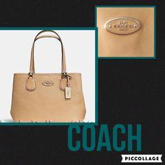 "Coach Nude ""Kitt"" Carryall Pebbled Large Leather Tote Bag NWOT #Coach #KittCarryallTote"