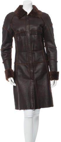 Artico Shearling Coat Shearling Coat, Leather Jacket, Fur, Stylish, Jackets, Tops, Women, Fashion, Studded Leather Jacket