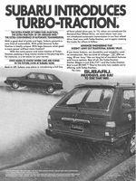 Subaru Turbo-Traction Station Wagon 1983 Ad Picture
