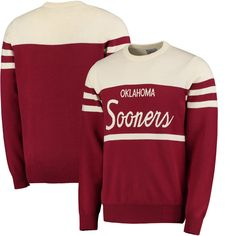 Oklahoma Sooners Tailgate Crew Neck Sweater - Crimson