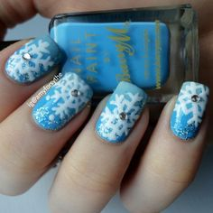 snowflakes by amyforsythe #nail #nails #nailart