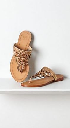 sweet sandals #anthropologie Check out the Anthropologie Sale here!http://rstyle.me/~Oge4