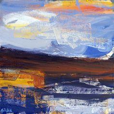 'Sunlit Sky, North West Sutherland' by contemporary Scottish artist Mairi Clark Sense Of Place, French Art, Contemporary Artists, North West, Color Show, British, Tapestry, Sky, Fine Art