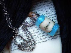 Lyrium Potion Pendant - Dragon Age Necklace - Gamer Accessory