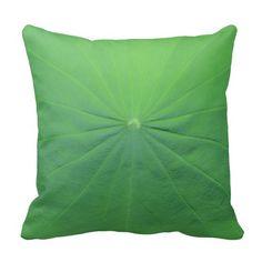 Green Lotus Leaf Pillows