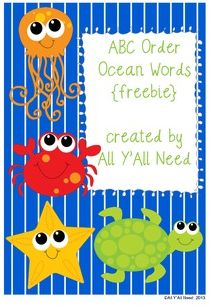 ABC Order Ocean Words - Pinned by @PediaStaff – Please Visit ht.ly/63sNtfor all our pediatric therapy pins