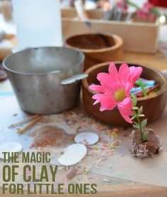 Reggio inspired clay play for toddlers