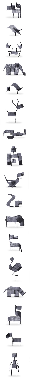 Des animaux minimalistes en calligraphie