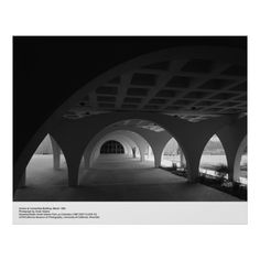 Arches at Humanities Building, March 1966 by Ansel Adams