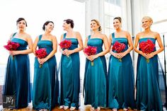 Beautiful Blooms - Orchid Bridesmaids Bouquets