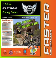 Faster Wear organiza junto a la Peña Mtb Caudete la primera prueba del Circuito #FasterWear Racing Series en Caudete(Albacete) el próximo 26 de Diciembre.   TRAIL RUNNING por la mañana y MOUNTAIN BIKE por la tarde; todo un d'a dedicado al deporte, competición, exhibiciones...  Más Info / Inscripciones para esta prueba:  www.mtbcaudete.com   Más info sobre otras pruebas del circuito #FasterWear Racing Series:   http://www.fasterwear.com/racingseries/
