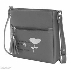 Checkout this latest Slingbags Product Name: *Beautiful Women's Grey Leather Slingbag* Material: Leather No. of Compartments: 2 Pattern: Printed Multipack: 1 Sizes:Free Size (Length Size: 25 in, Width Size: 2 in, Height Size: 25 in)  Easy Returns Available In Case Of Any Issue   Catalog Rating: ★3.9 (333)  Catalog Name: Ravishing Fancy Women Slingbags CatalogID_1481913 C73-SC1075 Code: 462-8698361-345