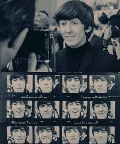 George Harrison from The Beatles movie A Hard Days Night (George. gets tons of pictures taken and they all look awesome. That never happens when I take tons of picture. If I'm lucky maybe one may look decent. Beatles Love, John Lennon Beatles, Beatles Band, Beatles Photos, Ringo Starr, George Harrison, Great Bands, Cool Bands, The Beatles