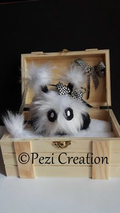 cute Mimi Plushie fluffy Lucymi with Box Stuffed Animals, Fantasy Wesen, Plushies, Etsy, Little Monsters, Cute Creatures, Toys For Toddlers, Hand Sewn, Fabric Animals