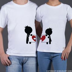 Cute Valentine's Day gifts for girlfriend or wife- BoldLoft Complete My Heart His and Hers Matching Couple Shirts. These couple shirts remind you that you have found your soul mate. Get these matching shirts to celebrate love today! Matching Couple Outfits, Matching Couples, Matching Shirts, Cute Couples, Romantic Couples, Cute Couple Shirts, Couple Tees, Valentines Day Gifts For Her, Mo S