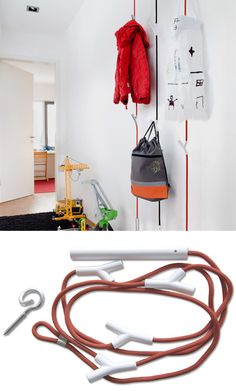 Branches clothing rack. The hooks are adjustable but lock into place once something is hung on it.