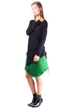 Marques'Almeida - Asymmetric mini skirt // AW15 // Shop at Sprmrkt Amsterdam