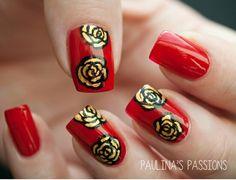 Gold rose design