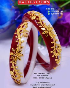 Wedding Chura, Bridal Chura, Royal Jewelry, Bead Jewellery, Chuda Bangles, Gold Bangles For Women, Designer Bangles, Rajputi Jewellery, Bengali Wedding