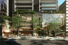 Development group Mirvac has submitted a development application to build a commercial tower located at 80 Ann Street, Brisbane City. Retail Architecture, Commercial Architecture, Architecture Office, Landscape Architecture, Architecture Design, Office Buildings, Chinese Architecture, Futuristic Architecture, Mix Use Building