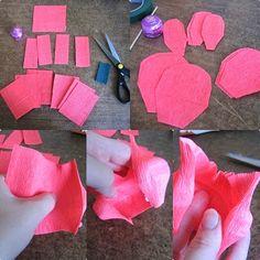 Aprenda a fazer rosa de bombom com papel crepom - Artesanato na Prática