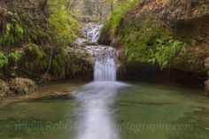 Texas Hill Country Images - Twin Falls in Autumn at Pedernales Falls State Park 3