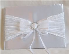 White guest book GBW97813 Silver Color, Wedding Accessories, Book, Wedding Props, Book Illustrations, Books, Bridal Accessories