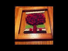 Tutorial TELAR ÁRBOL Decorativo 1 Paso a Paso Tapiz Wall Hanging TREE. Wandteppich BAUM. Lana Wolle - YouTube