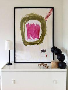 Original Acrylic Painting 39.4 inch x 27.5 por YellowRedAndBlue, $350.00