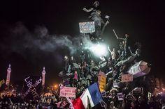Marche contre le terrorisme, à Paris. (Corentin Fohlen / World Press Photo)
