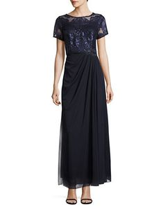 Women   Mother of the Bride Dresses    Sequin Lace and Chiffon Gown   Hudson's Bay Embroidered Shorts, Chiffon Gown, Bride Dresses, Wedding Dresses, Sequin Dress, Mother Of The Bride, Evening Dresses, Dresses For Work, Gowns