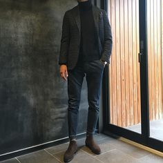 Smart Casual Men, Stylish Men, Ripped Jeans Men, Casual Outfits, Fashion Outfits, Minimalist Wardrobe, Outfit Combinations, Preppy Style, London Fashion