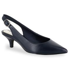 b4e28eb98cb1a Worthington Womens Danika Pumps Slip-on Pointed Toe Kitten Heel ...