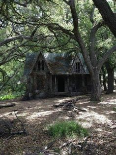 Mama,Abandoned Home, The house in the woods from Guillermo del Toro's horror film looks even more terrifying after years of abandonment. Abandoned Buildings, Old Abandoned Houses, Abandoned Mansions, Old Buildings, Abandoned Places, Old Houses, Abandoned Property, Scary Places, Haunted Places