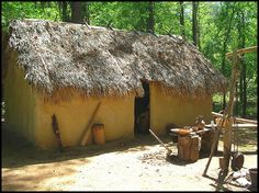 Creek Indian Winter Home at Fort Toulouse by Kenny Shackleford, via Flickr