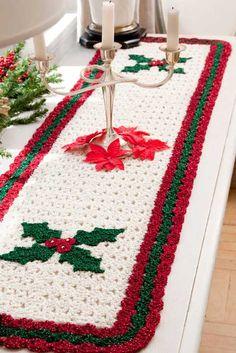 Caminho de mesa para o clima natalino