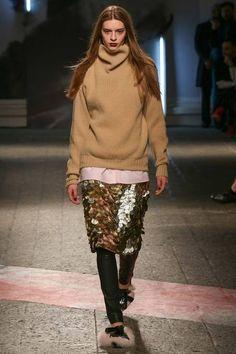 MSGM F/W 2014, sequined skirt, oversize sweater, leggings