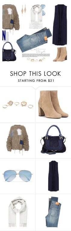 """""""Hi-Low Jean..."""" by unamiradaatuarmario ❤ liked on Polyvore featuring GUESS, Yves Saint Laurent, Tuinch, Chloé, Victoria Beckham, Miss Selfridge, Brioni, Citizens of Humanity and Tiffany & Co."""